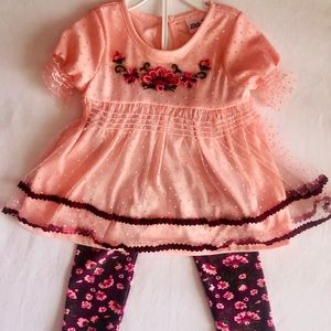 Little Lass Floral 24 Month Outfit